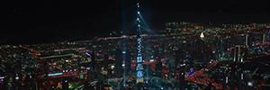 El espectáculo organizado en el Burj Khalifa para despedir el año vuelve a ser récord Guinness
