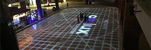 El centro comercial Mundo E instala un mapping proyectado sobre una pista de hielo