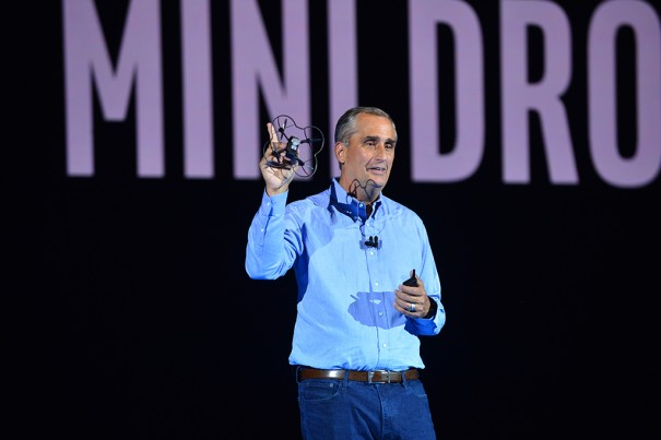 Intel, съемки звезды КЕС 2018 Брайан Krzanich