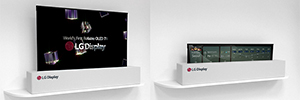 LG unveiled in Las Vegas a 65 inch rollable OLED UHD screen