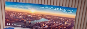 Samsung will CES 2018 with its curved monitor CJ791 QLED with Thunderbolt 3