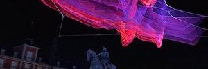 Madrid 1.8: la escultura flotante y luminosa que cubre la Plaza Mayor en su IV Centenario