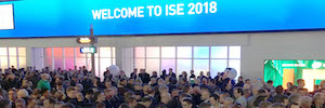 ISE 2018 is open to innovation and AV/IT integration of some 1,300 exhibitors