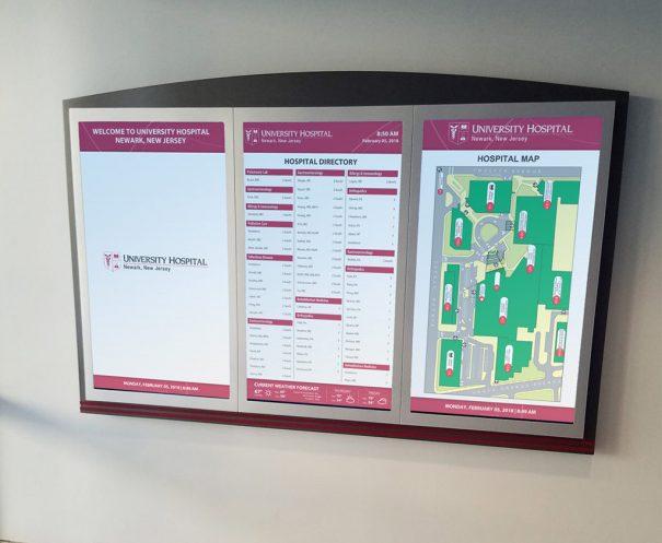 Janus Display en University Hospital in Newark
