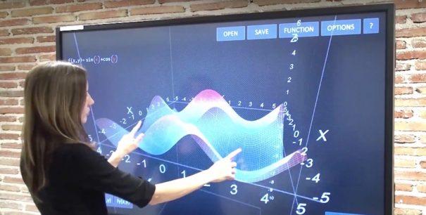 Multiclass touch screen