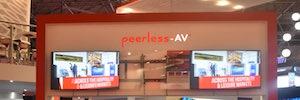 Peerless-AV crea con su montaje IF para pantallas Led una configuración visual sin costuras