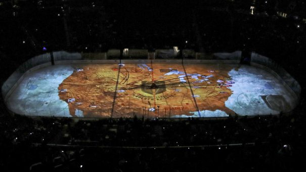 Christie mapping Vegas Golden Knights