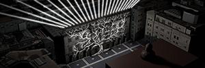 Barcelona conmemora los 80 años del bombardeo de la ciudad con una instalación de mapping, luz y sonido
