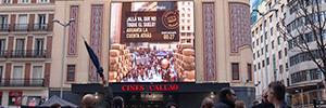 Mahou promociona su nueva cerveza con la realidad aumentada de Callao City Lights