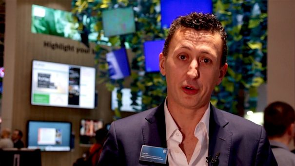 Philips ISE 2018 Cesar Sanz, sales manager Signage Solutions