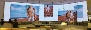 Audiovisual technology OLED integrated with Big Data for a shopping experience immersive