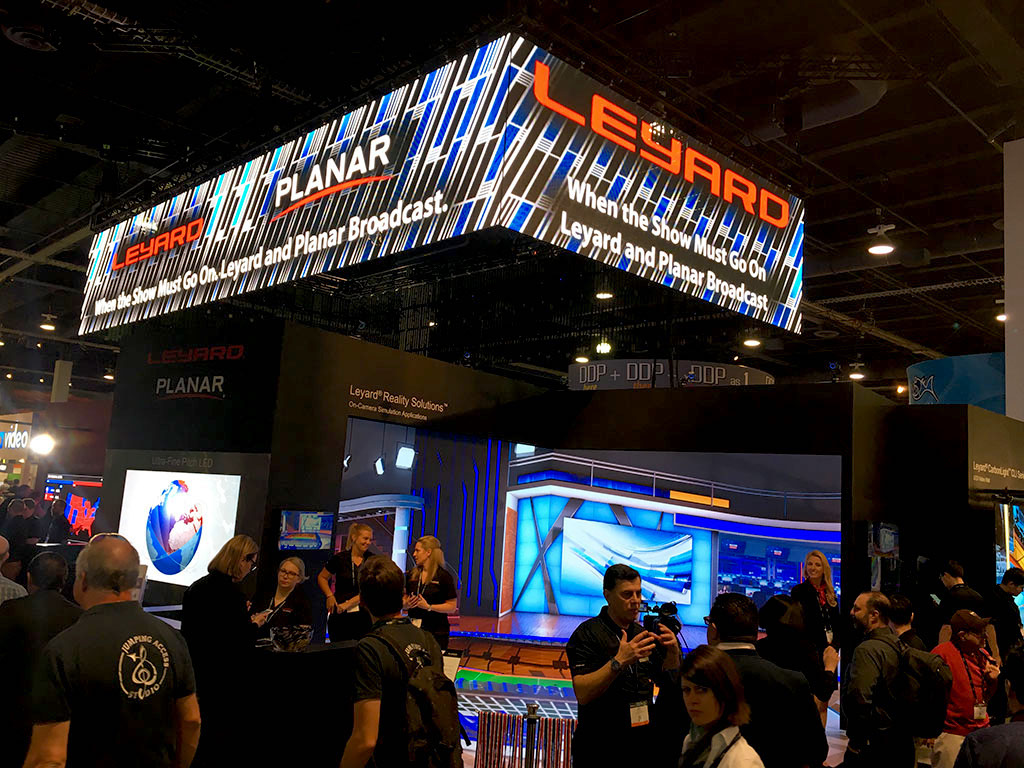Leyard and Planar exhibit their innovations on display and