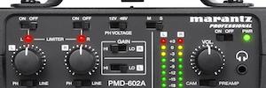 Marantz PMD-602A: interfaz para conectar dispositivos de audio con cámaras y grabadores