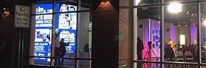 El HC Media Studio 101 se estrena con una pantalla Led que ilumina la ciudad de Haverhill