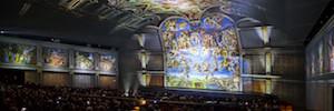 Arte y espectáculo se funden en una espectacular proyección sobre la obra de Miguel Ángel