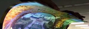 LG avanza en tecnología OLED con una pantalla UHD transparente y flexible de 77 pulgadas