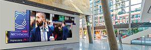 Peerless-AV suministra los soportes de pantallas para la NEC Solutions Showcase 2018