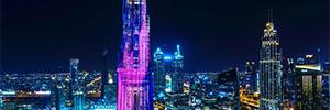Un videomapping 'made in México' iluminó el edificio más grande del mundo