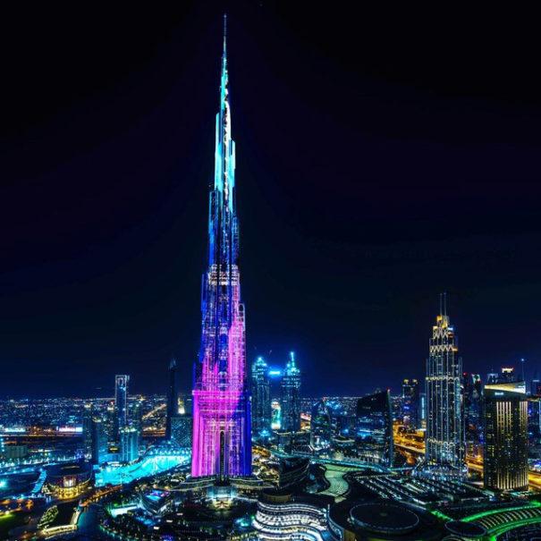 Videomapping Luna en Burj Khalifa