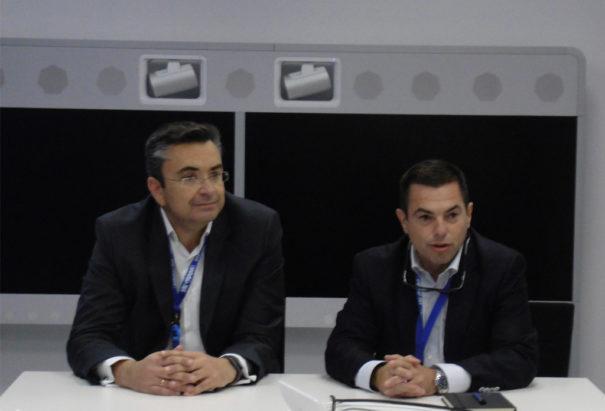 Ingram Micro oficina Madrid Alcobendas. Alberto Pascual y Herminio Granero