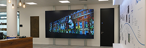 Panasonic instala un impactante videowall en su sede de Berkshire