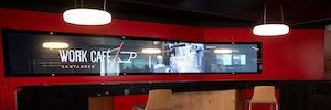 Banco Santander se apoya en la tecnología multitáctil de Zytronic para la puesta en marcha de sus Work/Café