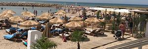 El recién inaugurado Beso Beach en Sitges se sonoriza con Audac