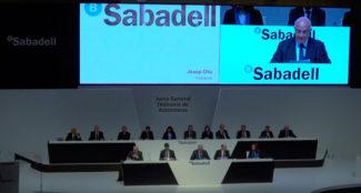 Sono Junta Accionistas Banco Sabadell