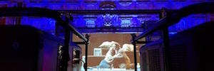 Proyección en directo de la ópera 'Manon Lescaut' desde el Liceo de Barcelona a la Plaza Mayor de Madrid