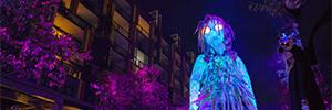 Christie Widget Designer dio vida a la gigantesca marioneta del Vivid Sydney 2018
