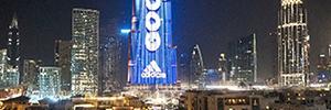 El panel Led del Burj Khalifa se convierte en el marcador de fútbol más alto del mundo