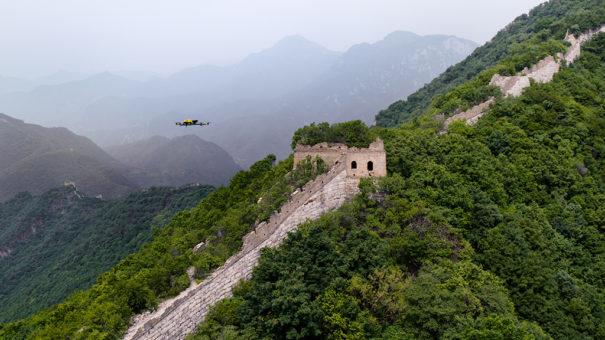 Intel dron gran muralla china
