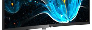 MMD despliega en IFA 2018 la nueva gama de monitores curvos y táctiles de Philips