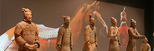 Panasonic technology recreates the history of the terracotta warriors at Liverpool's World Museum