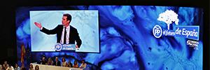 Una pantalla Led de 82 m2 presidió el XIX Congreso Extraordinario del PP