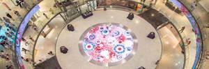 Trison transforma con 180 m2 de visualización Led el centro comercial Arenas de Barcelona