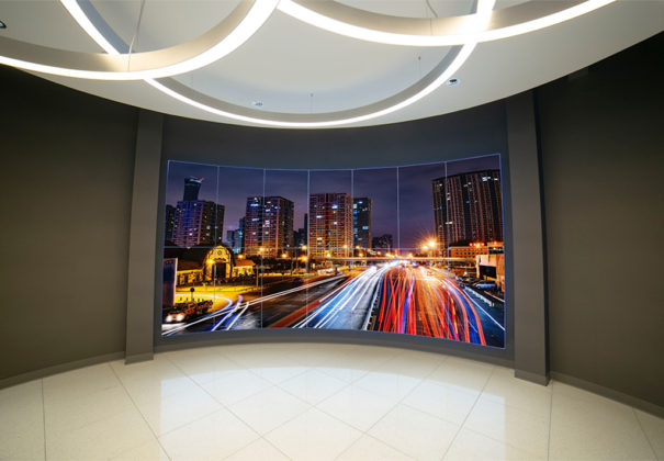 Advanced Christie videowall empresa logistica