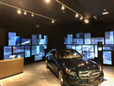 BrightSign en Mercedes-Benz pop-up store Miami y Chicago