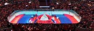 Capital One Arena anima a sus fans con un innovador sistema de proyección dual-sport