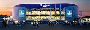 El pabellón Barclaycard Arena se convierte en uno de los más modernos de Europa gracias al digital signage