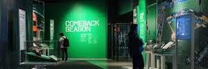 Una emotiva exposición digital recrea el homenaje del deporte tras el ataque del 11-S