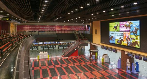 Dnp y Panasonic en hipodromo de Tokio