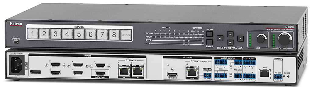 Extron IN1808: switches for environments that require support of 4 K