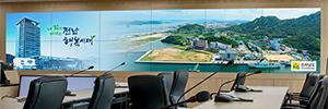 El centro de control de desastres de Jeollanamdo monitoriza la información crítica con Barco UniSee