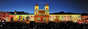 Christie acompañó a Quito en su Fiesta de la Luz y la proyección de sus mapping