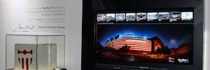 Ikusled instala el sistema de cartelería digital en el renovado museo del Sevilla FC