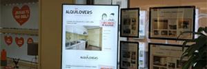 Innova Marketing despliega en la inmobiliaria Alquilovers su solución de cartelería digital Inmoscreen