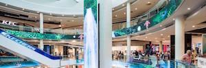 El centro comercial Plenilunio cubre su interior con 350 m2 de grandes pantallas Led y contenidos espectaculares