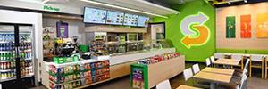 Subway instala una completa red de menú board en sus establecimientos de Europa