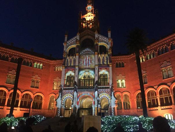 Sono mapping Navidad Sant Pau